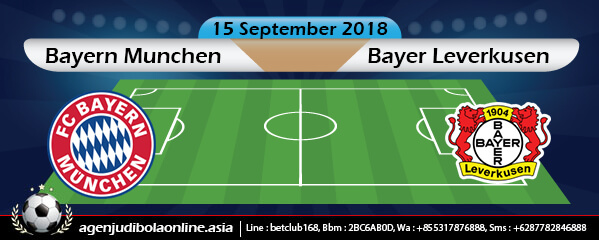 Bursa Taruhan Bayern Munchen Vs Bayer Leverkusen 15 September 2018